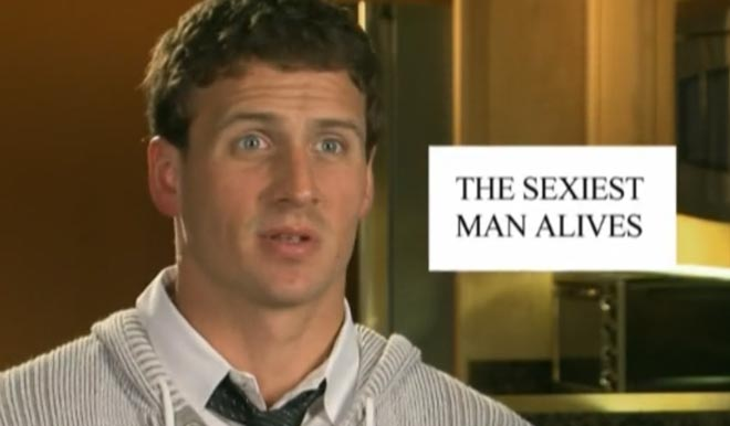Ryan Lochte is the sexiest man alives.