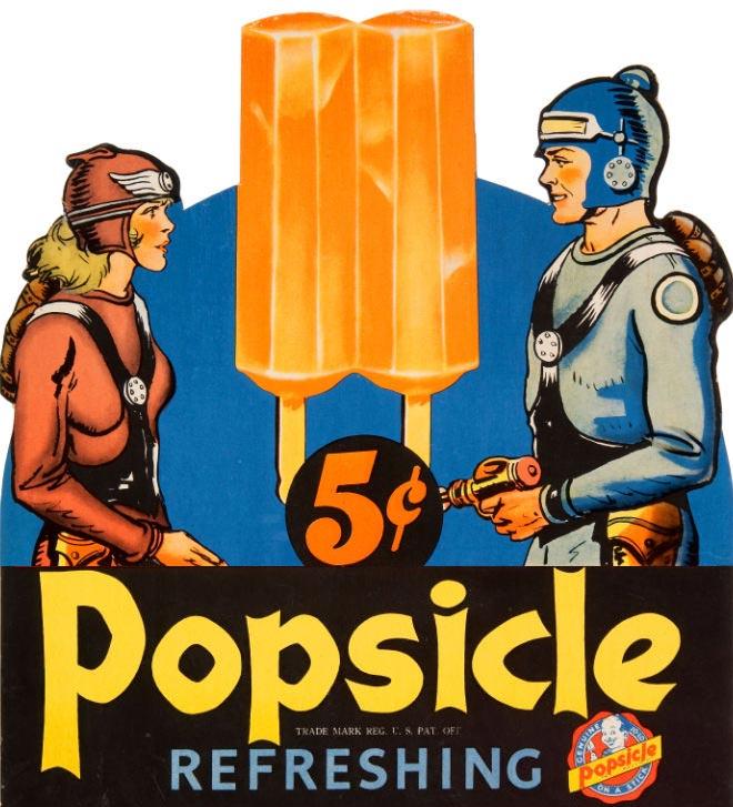The O.G. old school two-stick popsicle.
