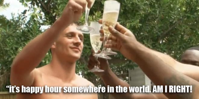 Ryan Lochte and the Lochterage toast their spring break in miami on what would ryan lochte do.