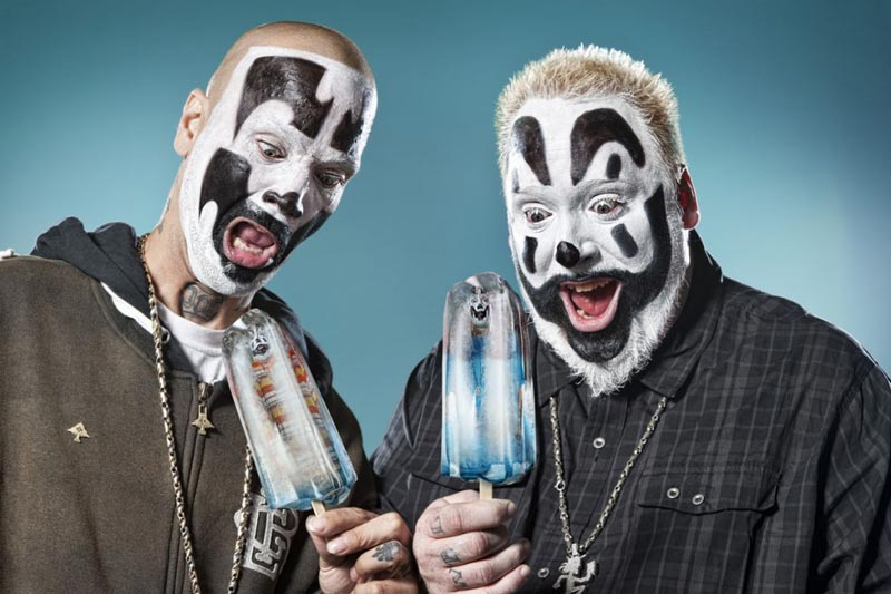 Insane Clown Posse loves popsicles in the summertime.
