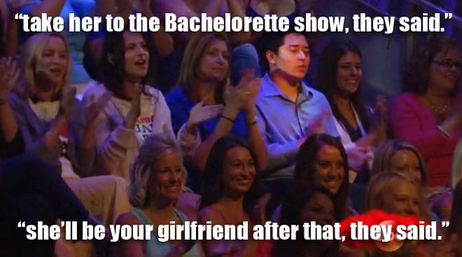 The audience from the bachelorette men tell all episode with desiree.
