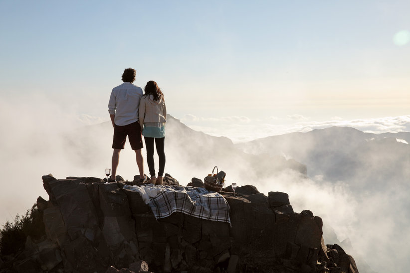 Desiree and Brooks enjoy a date in the clouds in Madeira Island, Portugal on the BAchelorette Breakdown.