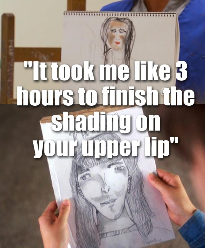 Zak shows his drawing of Desiree on their date on the Bachelorette.