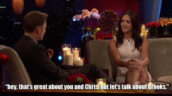 chris harrison interviews Desiree after the final rose on the bachelorette.