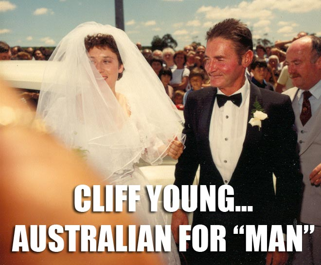 Cliff Young married 23 year old Mary Howell at age 62.