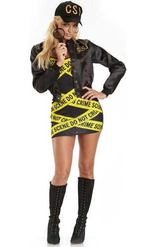 Sexy CSI Halloween costume.