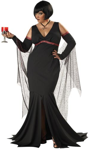 Sexy goth adult halloween costume