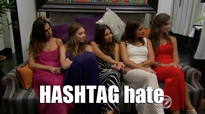 Alli, Kelly, Sharleen, Andi and Cassandra hate Clare on the Bachelor.
