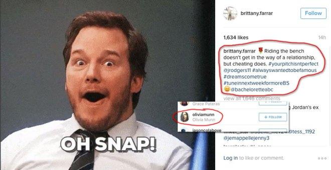 Jordan Rodgers ex girlfriend Brittany Farrar calls him out for cheating on Instagram for JoJo Fletcher Bachelorette.