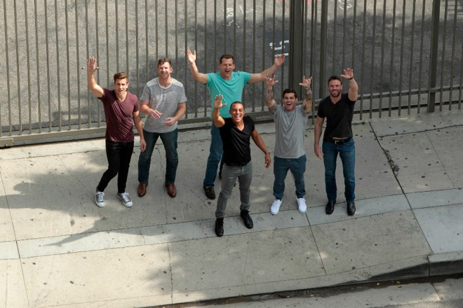 Jordan, James T, Chad, Nick, Christian and Alex visit ESPN studios with JoJo Bachelorette and compete on Sportsnation.