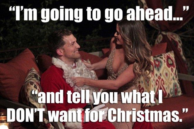 Nick santa on JoJo bachelorette.