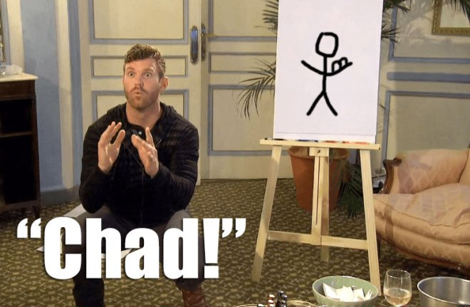 JoJo draws Chad during a game of dictionary on the bachelorette.