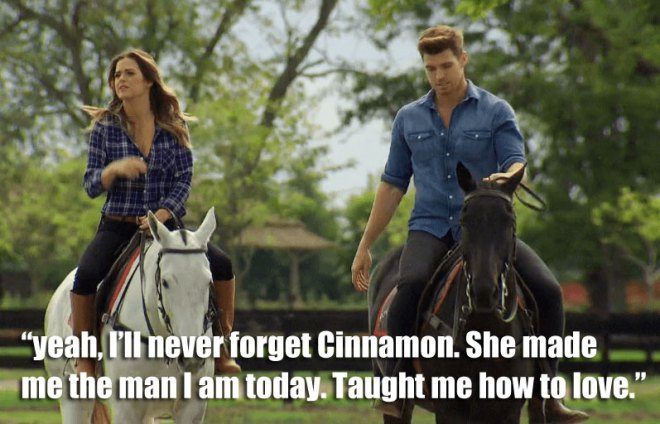 Jo and Luke ride horses for their date in Argentina on the Bachelorette.