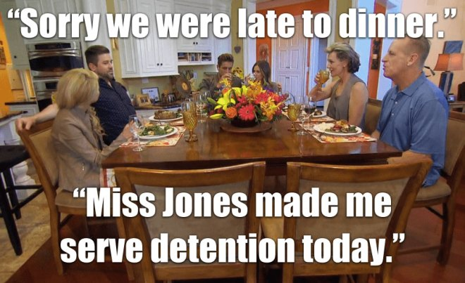 Jordan has dinner with his family and JoJo on the Bachelorette.