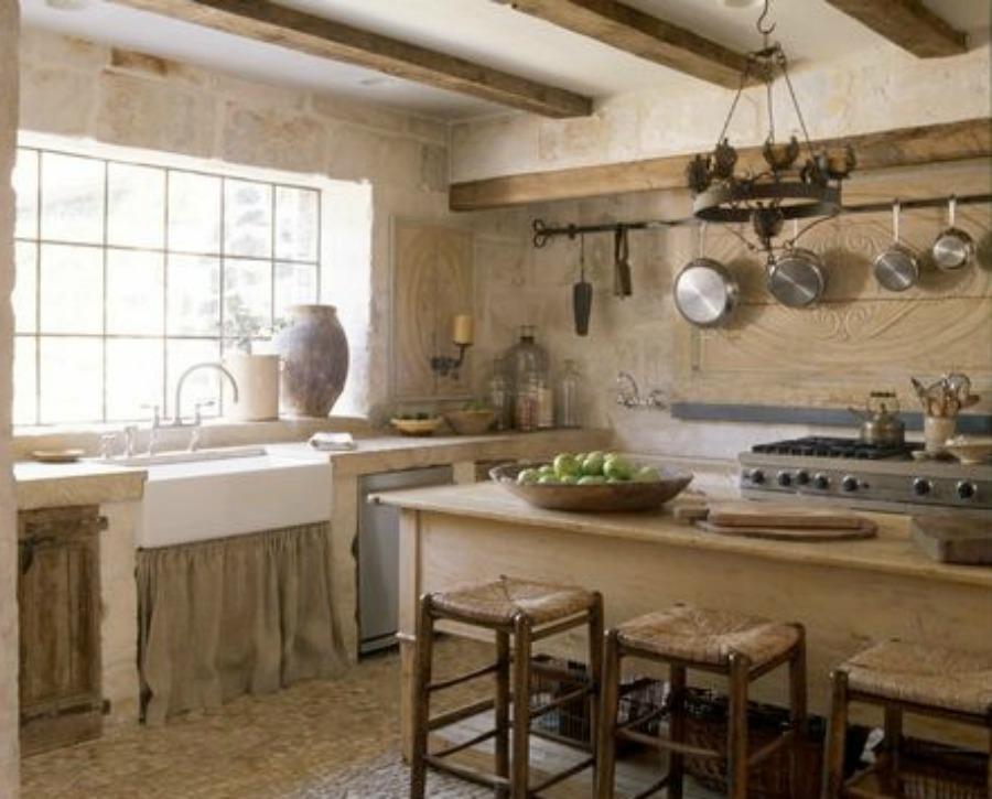 Rustic Elegant French Farmhouse Design Ideas, Part 2 ... on Rustic Farmhouse Kitchen  id=15537