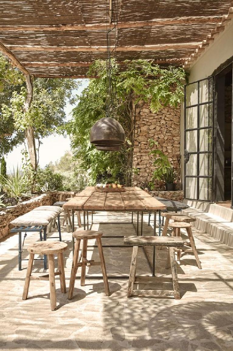 rustic elegant french farmhouse dining