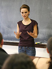 NATALIE PORTMAN SHOWS HER CLASS IN ACADEMIC ROLE