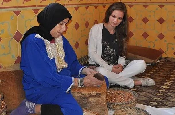 Alicia and Georgia Douvall in Morocco