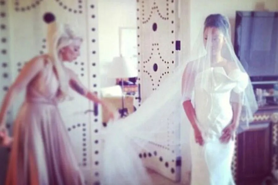 Lady Gaga Looks Pretty In Pink In Twobirds Bridesmaid Dress