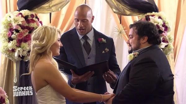 The Rock officiates fan's surprise wedding