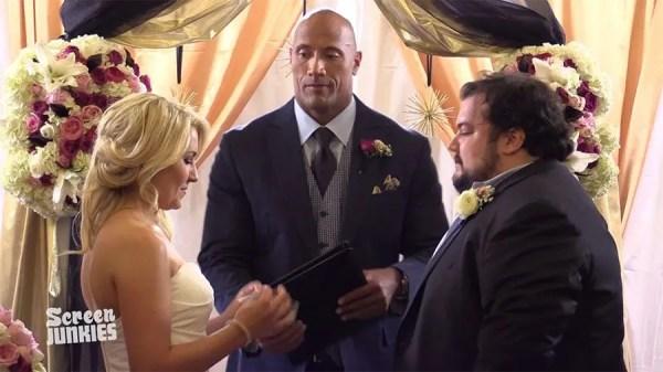 The Rock officiates fan's surprise wedding | HELLO!
