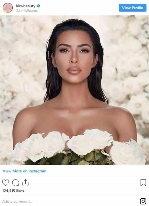 Kim Kardashian Launches Wedding Makeup