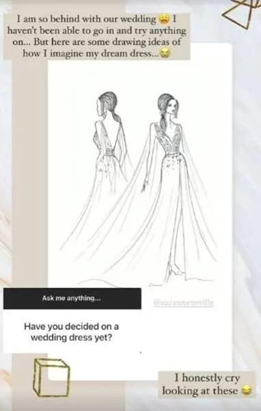 Stacey Solomon wedding dress