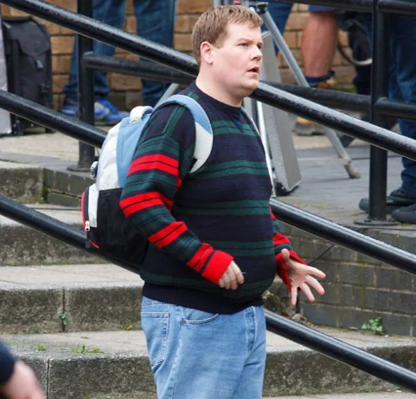 James Corden filming One Chance - Paul Potts biopic in Wales