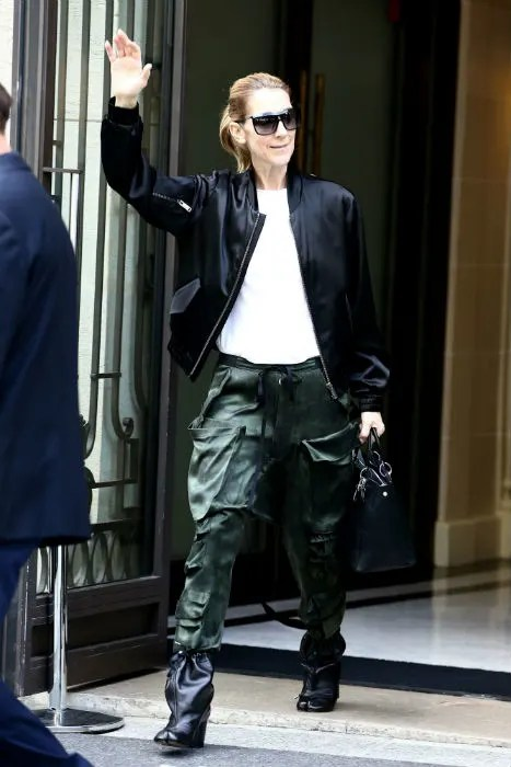 Celine Dion Steps Out In Paris Wearing 810 Leather Boots