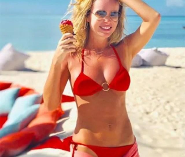 Amanda Holden Red Bikini Instagram