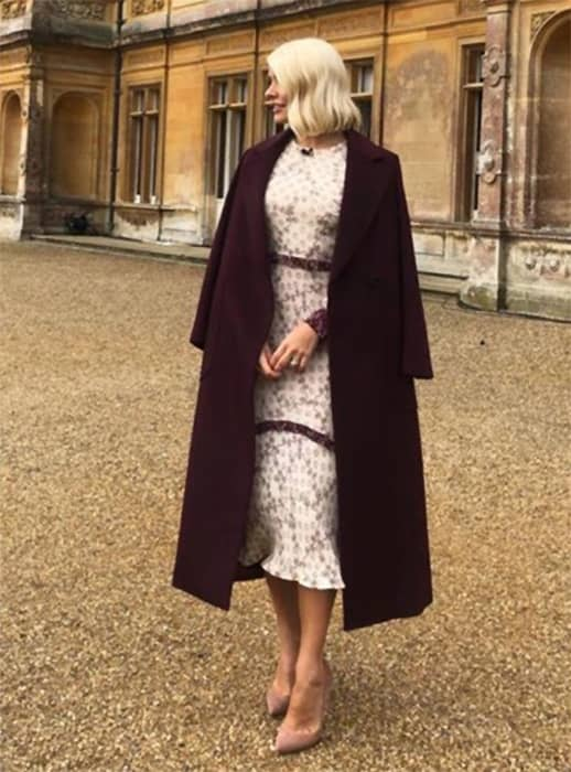 holly-willoughby-instagram-downton-abbey-dress-and-coat