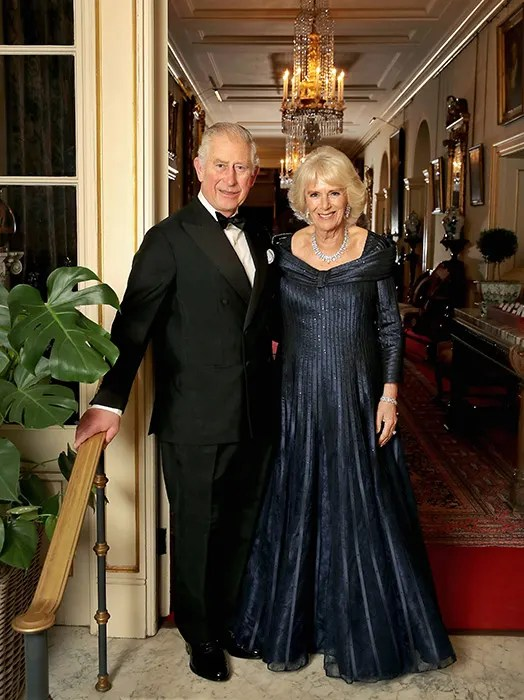 Camilla Parker Bowles Stuns In Blue Bruce Oldfield Gown At Prince Charles 70th Birthday Party