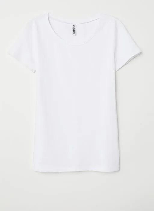 h-and-m-white-t-shirt