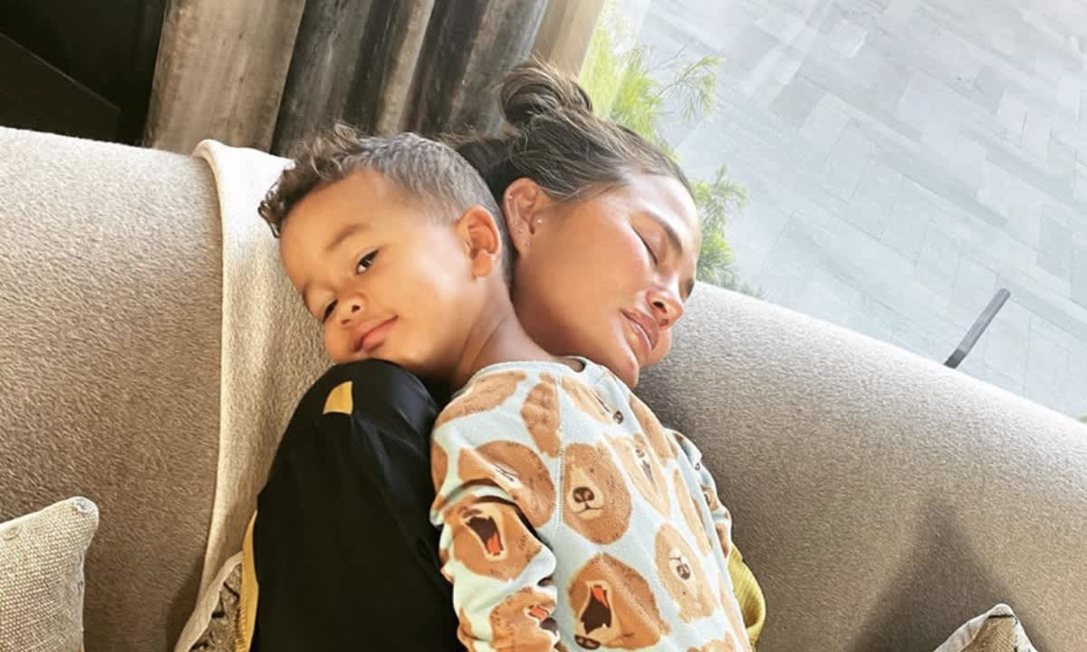 Chrissy Teigen's son defaces her wedding photo - see her surprising  reaction | HELLO!