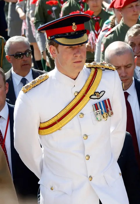 Prince Harry At Military Commemoration Service In Italy