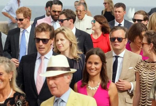 Prince Harry arrives at society wedding | HELLO!