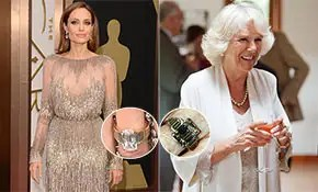 Angelina Jolie's engagement ring compared to Camilla ...