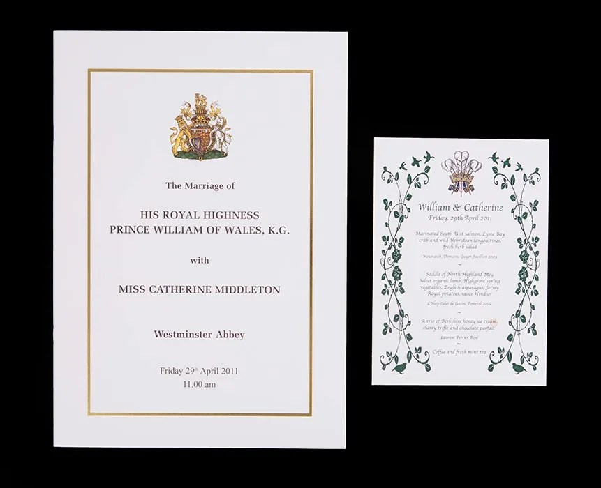 Prince William And Kate Middletons Wedding Menu And Rare