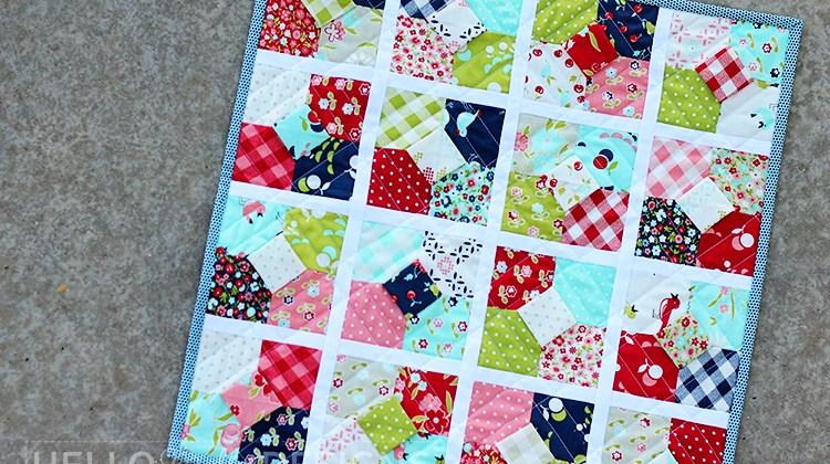 Sixteen Carats Mini Quilt