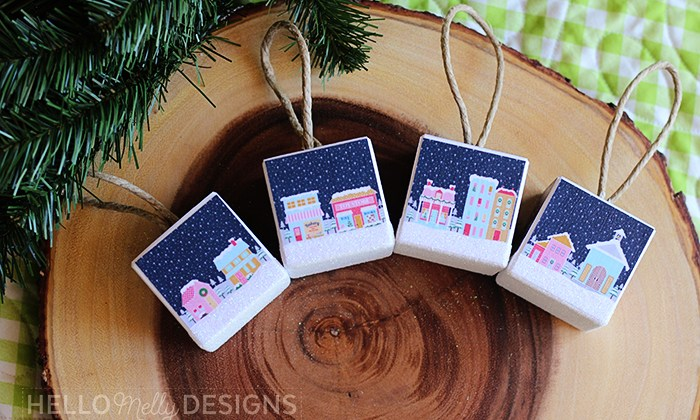 DIY Little Town Christmas Ornaments