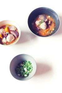 Delicious Tofu Meatballs in Miso Soup