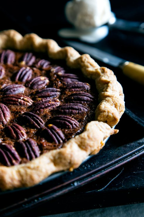 Hello My Dumpling | Earl Grey Infused Dark Chocolate Pecan Pie