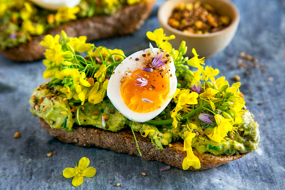 Hello My Dumpling | Avocado Toast with Dukkah, Flowers and Soft Boiled Eggs