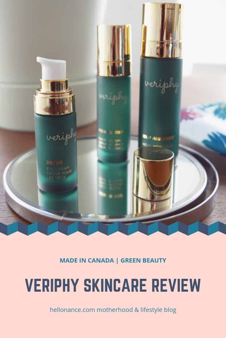 VERIPHY SKINCARE GREEN BEAUTY CANADA HELLONANCE.COM LIFESTYLE BLOG