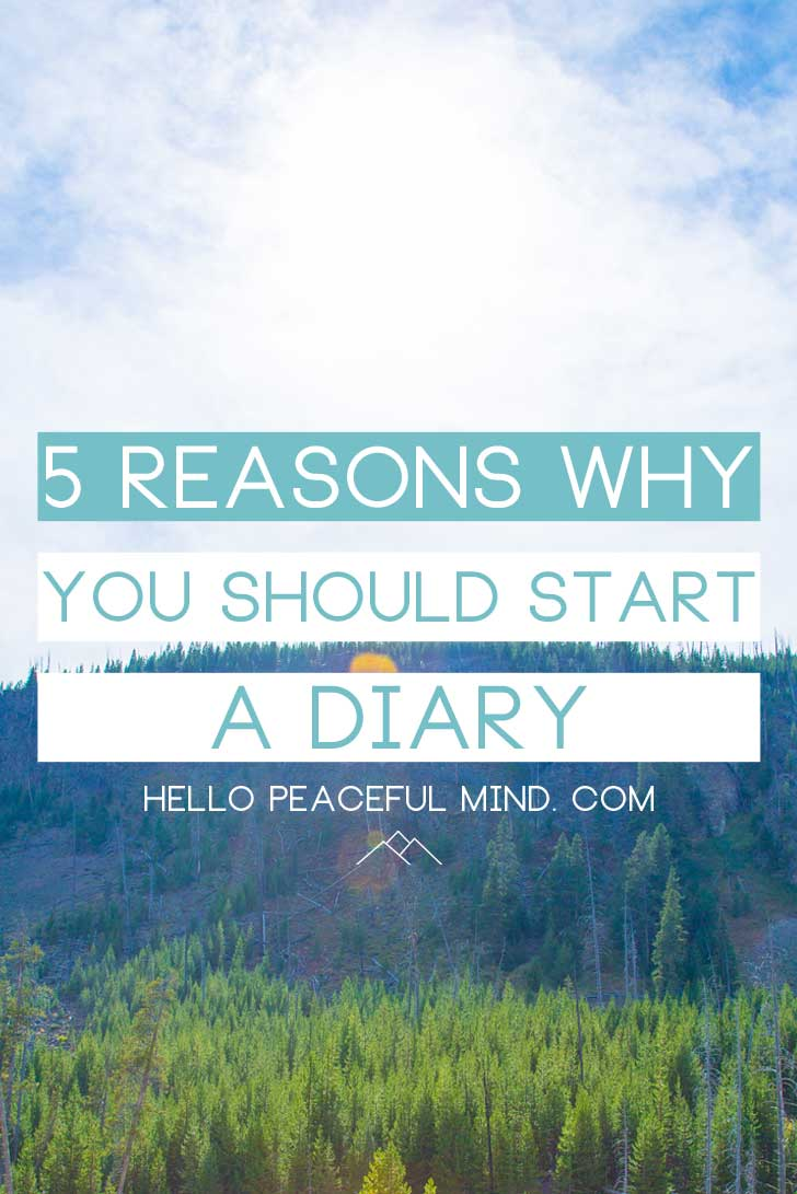 Why you should start a Diary