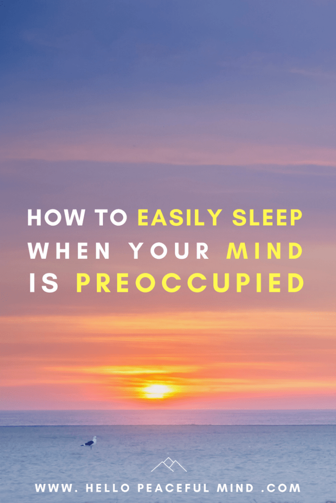 Discover how to easily sleep when you are stressed out with this five tips to relax before going to bed on www.HelloPeacefulMind.com