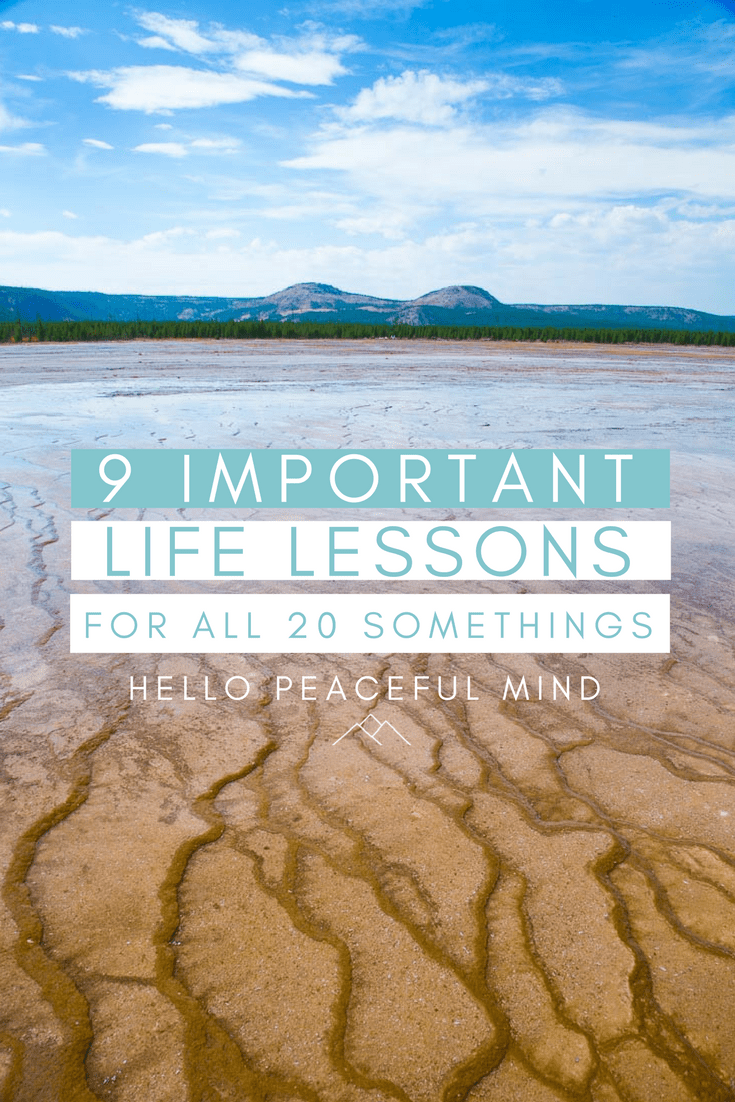 Life lessons for twenty somethings