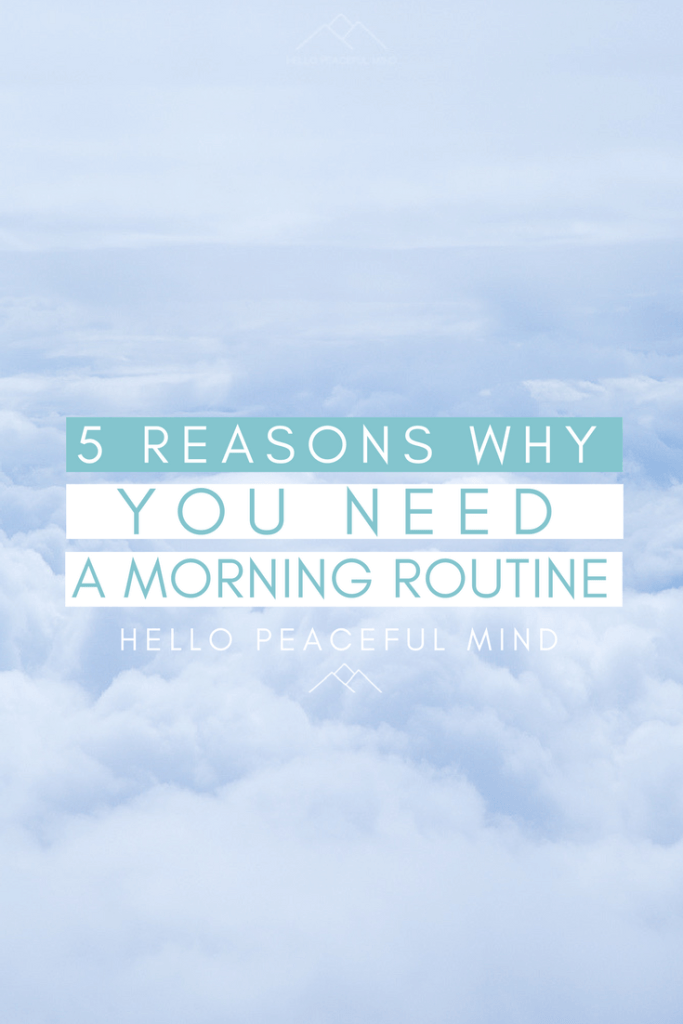 Did you know that having a morning routine will help you to reduce your stress? Discover why and other benefits of a routine on www.HelloPeacefulMind.com