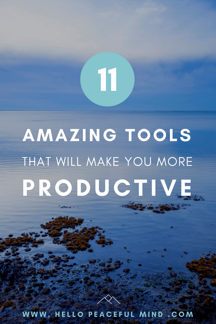 Become more productive with these 11 tools that you can try and use for FREE. Read more on www.HelloPeacefulMind.com