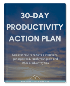 discover how to become more productive in 30 days